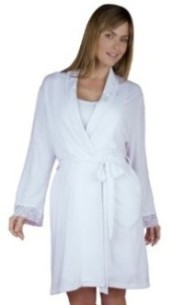 B-Up basic cotton robe