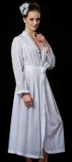Celestine long ruffle robe
