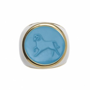 Asha Aries Zodiac Ring