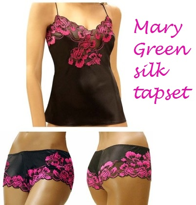 mary green silk tapset
